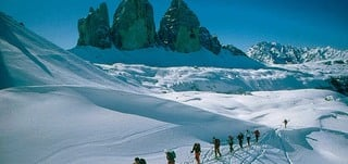 Alpine skiing in the Dolomites and the natural park UNESCO