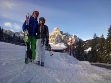 Guides skisafeari in the Dolomites with Michael (junior chef)